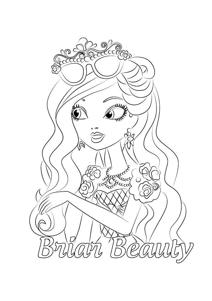 Раскраска Браер Бьюти — дочь Спящей красавицы