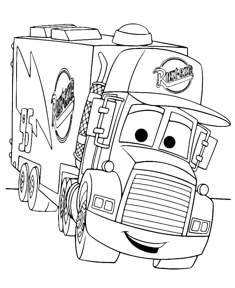 Раскраска грузовик Мак