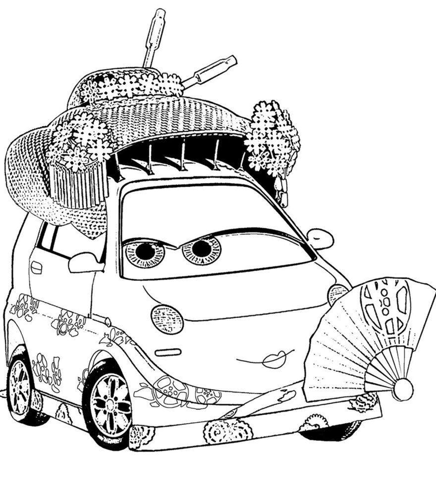 Раскраска Японская тачка