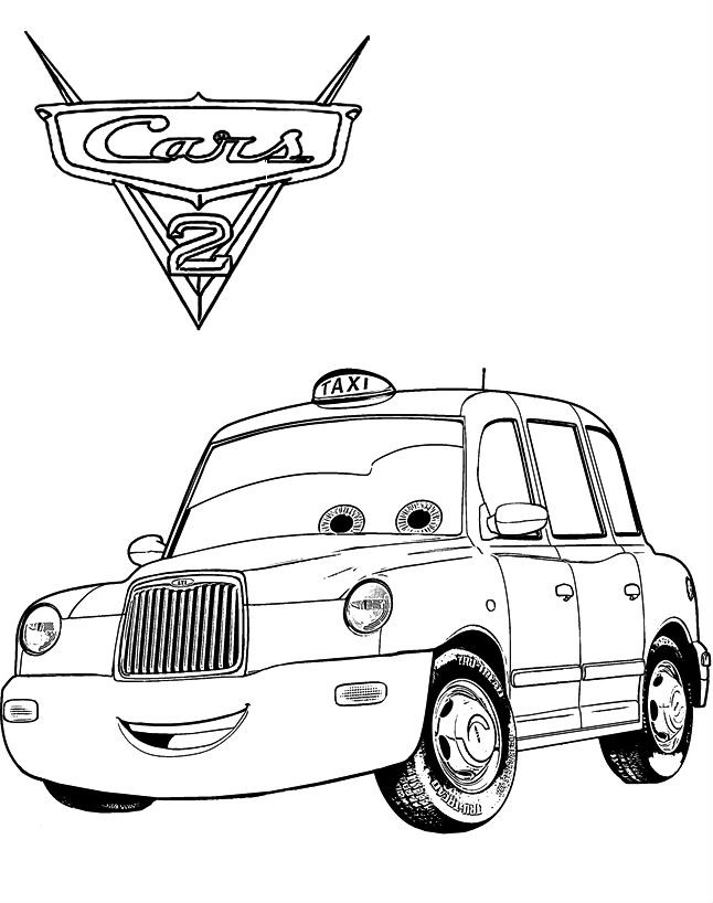 Раскраска Верн такси