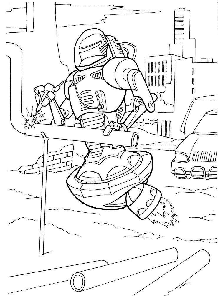 Раскраска робот сварщик