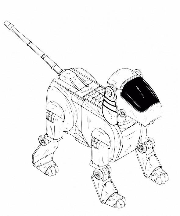 Раскраска собака робот