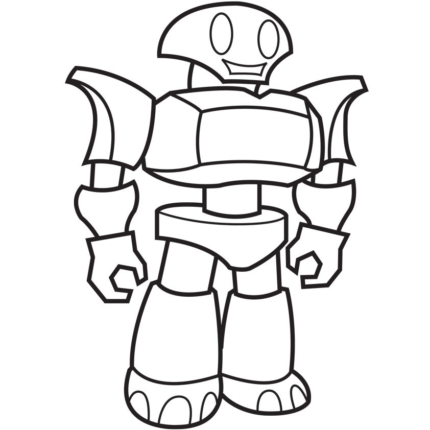 Раскраска robot