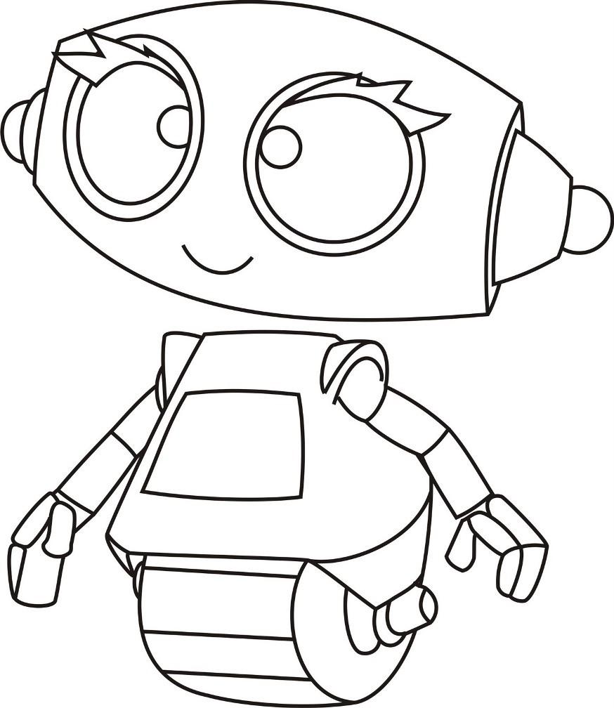 Раскраска малышка робот