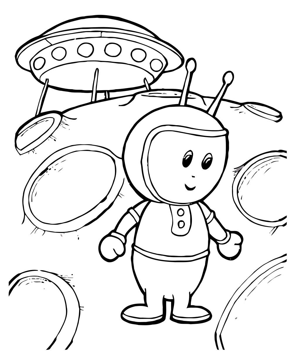 Раскраска робот с Марса