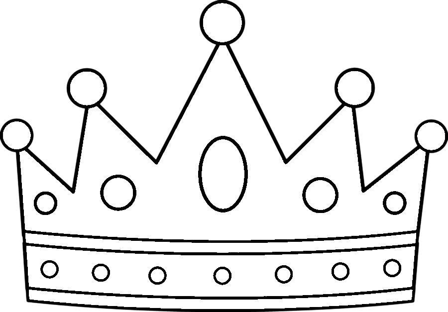 Раскраска бумажная корона