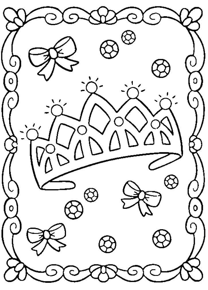 Раскраска корона принцессы