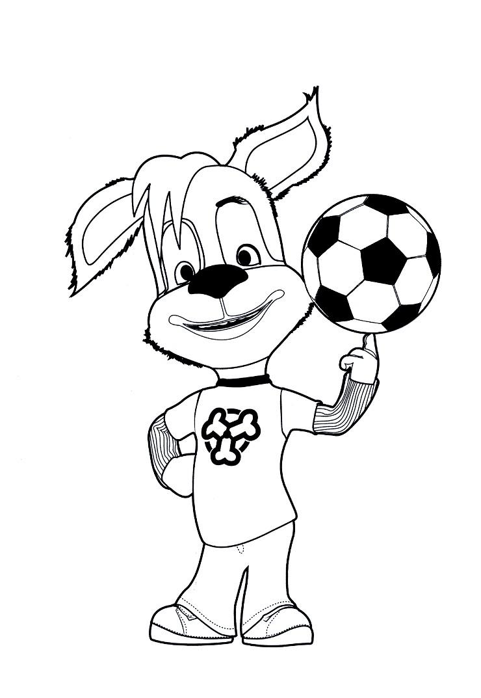 Раскраска Барбоскин с мячом
