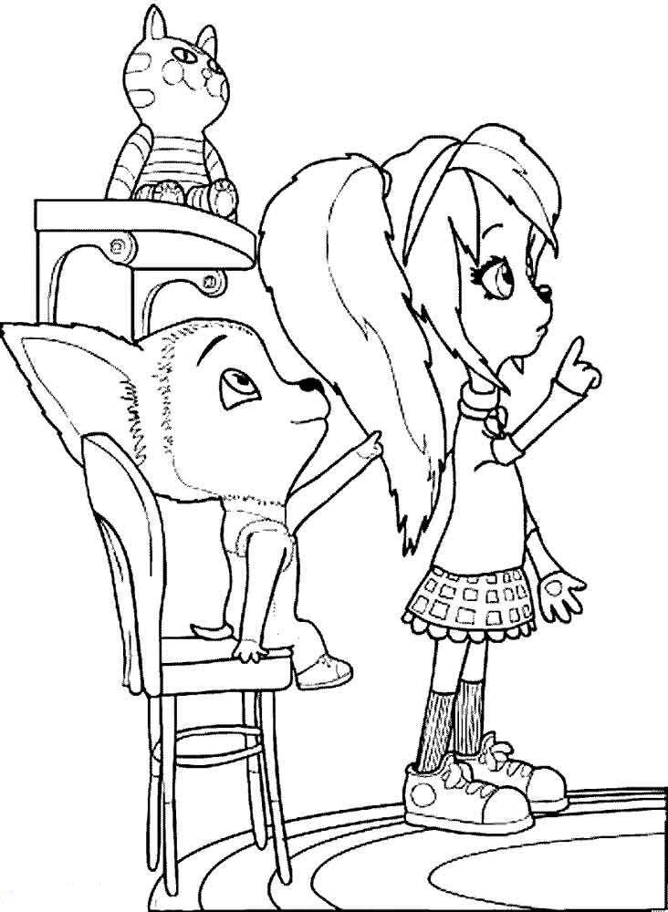 Раскраска Малыш и Роза