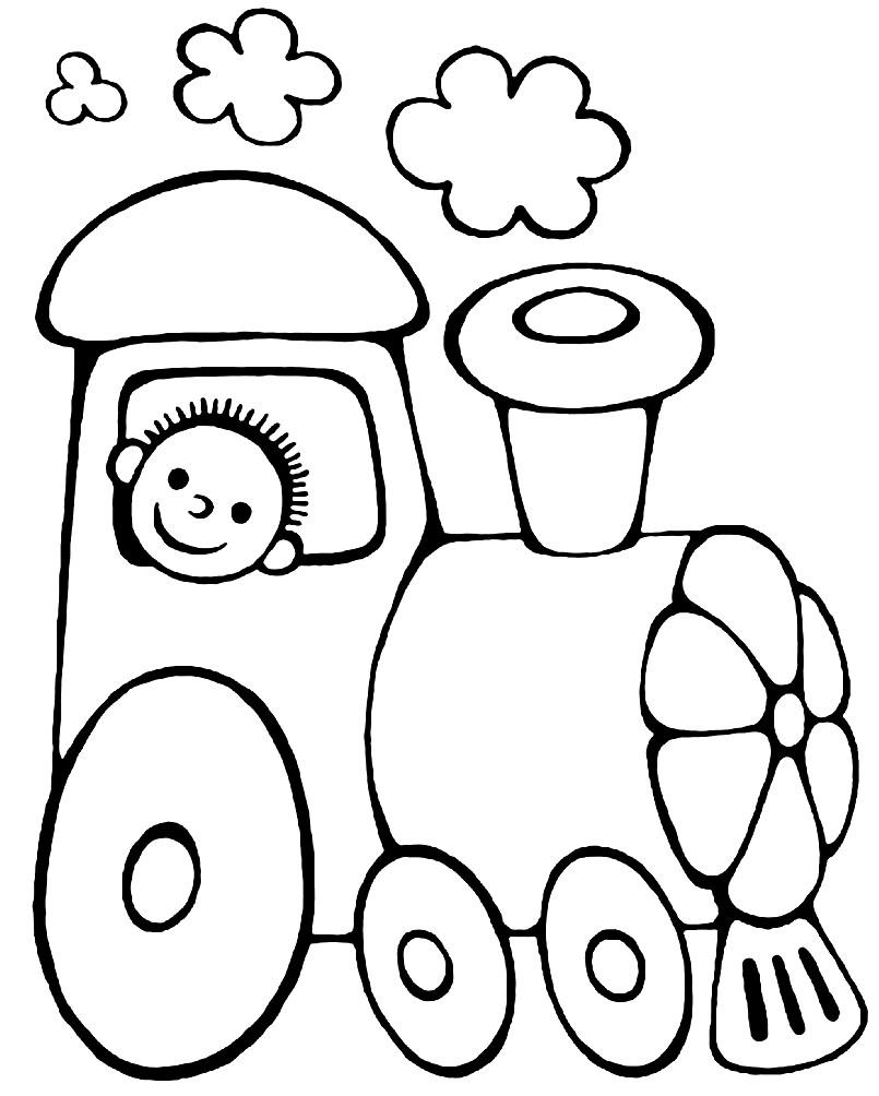 Раскраска игрушечный паровозик