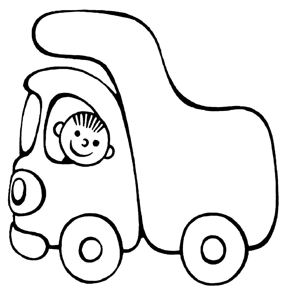 Раскраска игрушечный грузовик