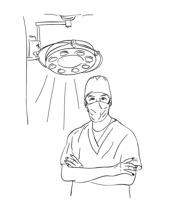 Раскраска хирург