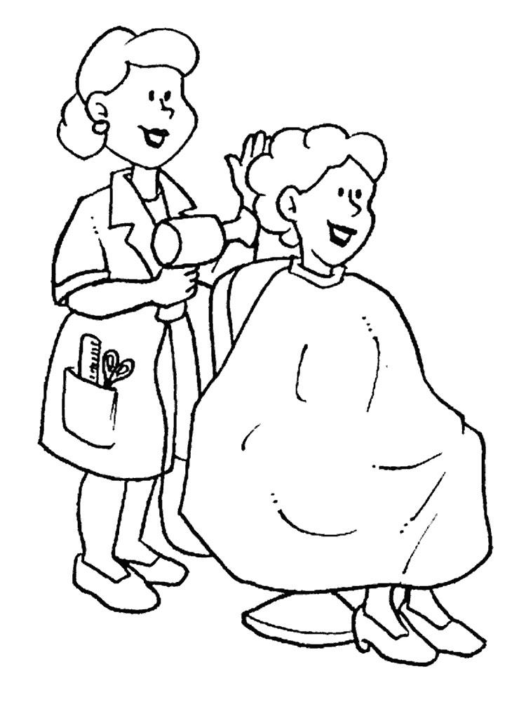 Раскраска парикмахер-стилист