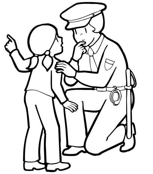 Раскраска полицейский