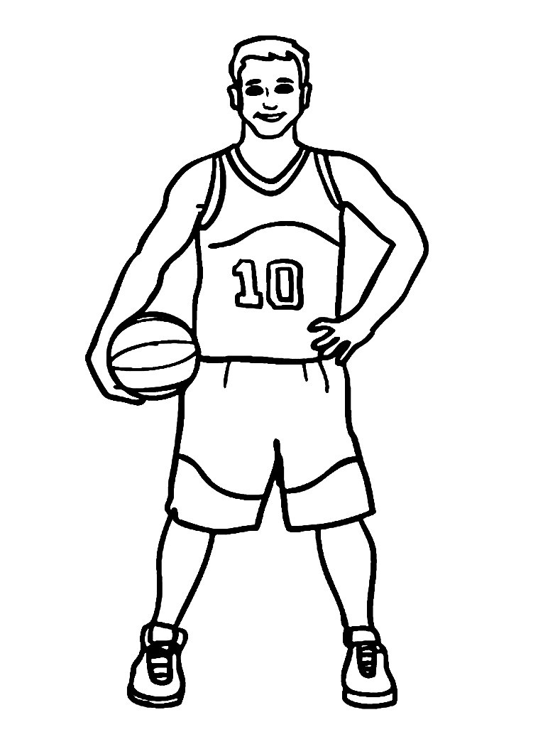 Раскраска спортсмен