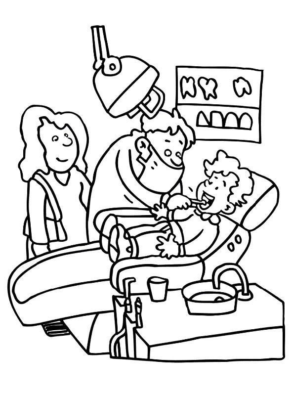 Раскраска стоматолог