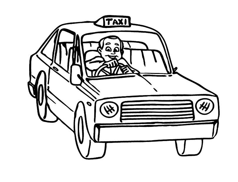Раскраска таксист