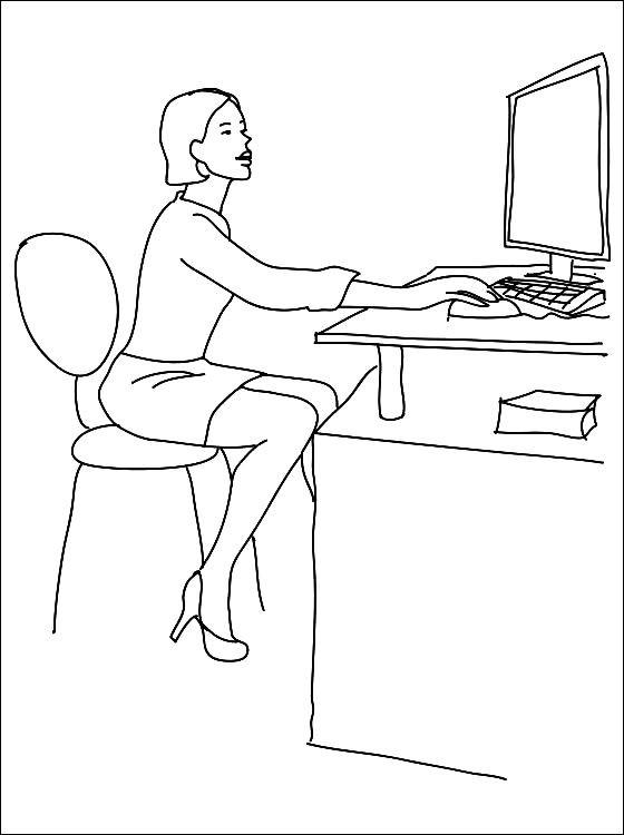 Раскраска секретарь