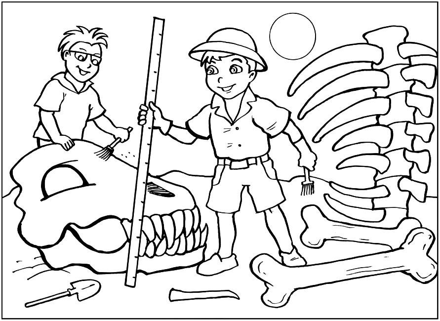 Раскраска археолог