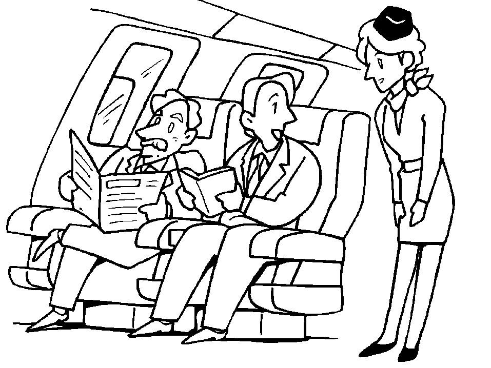 Раскраска стюардесса