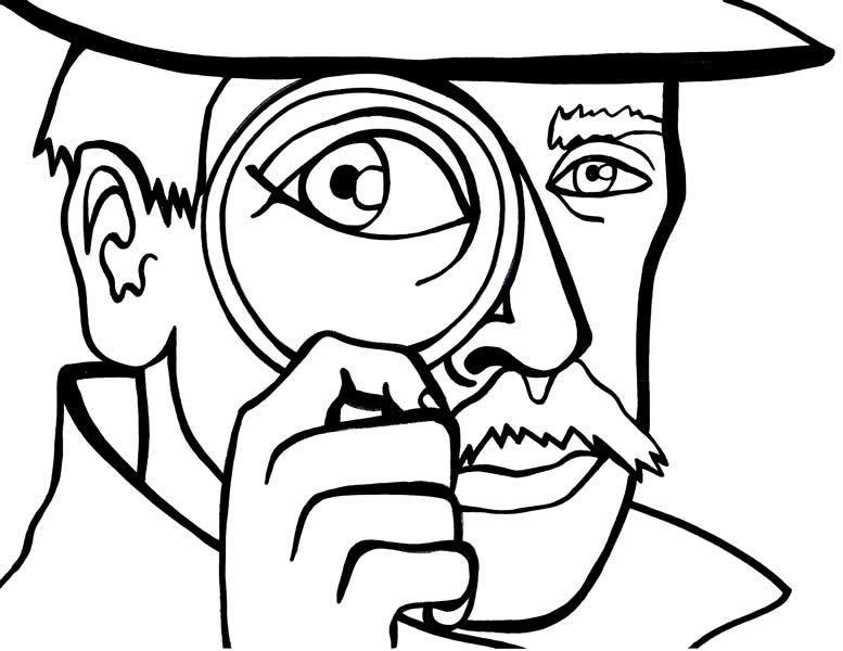 Раскраска детектив