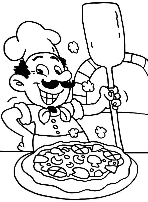 Раскраска пиццайол