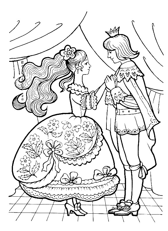 Раскраска принц из Золушки