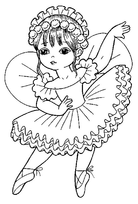 Раскраска маленькая принцесса балерина | Раскраски для ...