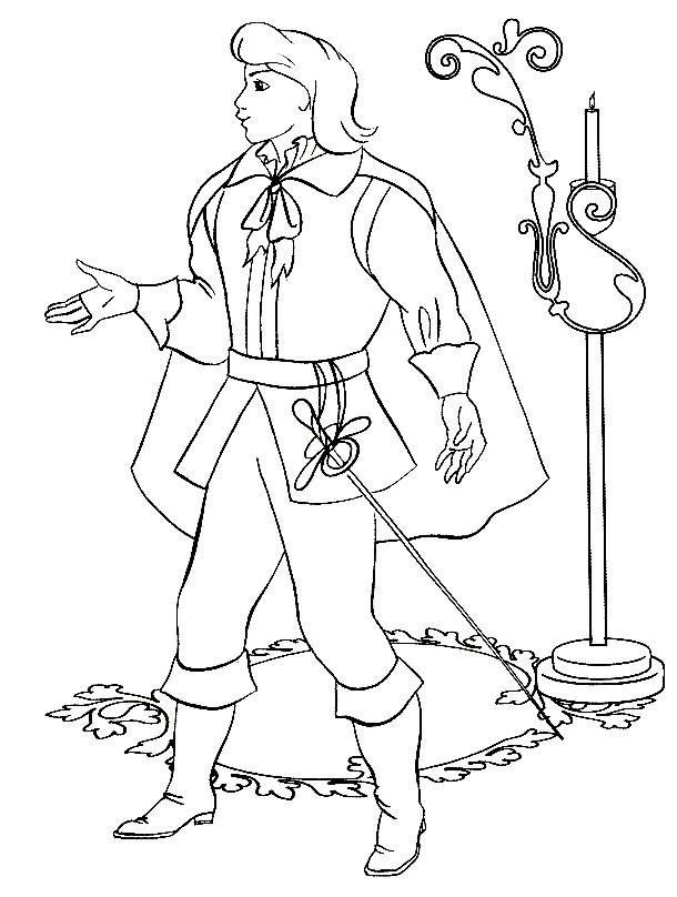 Раскраска принц из сказки