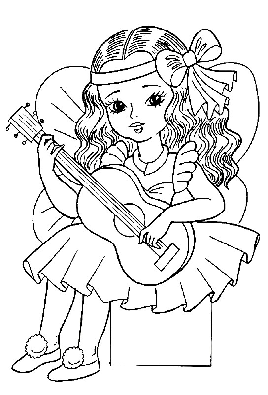Раскраска маленькая принцесса
