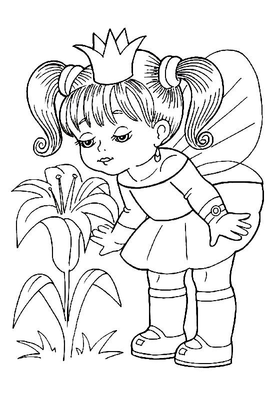 Раскраска принцесса цветов | Раскраски для детей ...