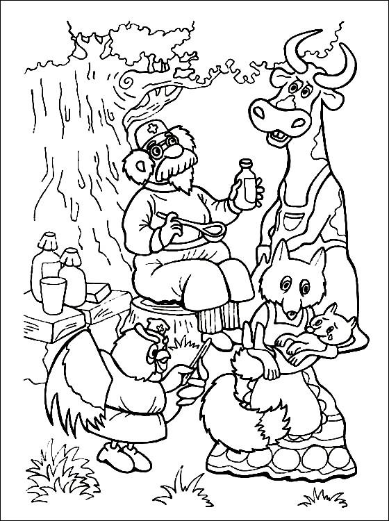 Раскраска доктор Айболит