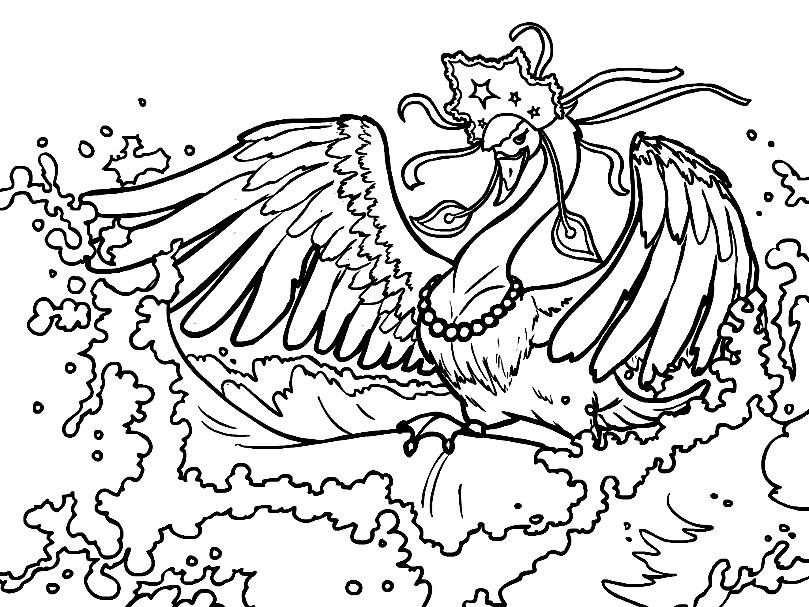Раскраска Царевна Лебедь