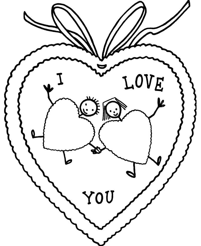 Раскраска Valentine