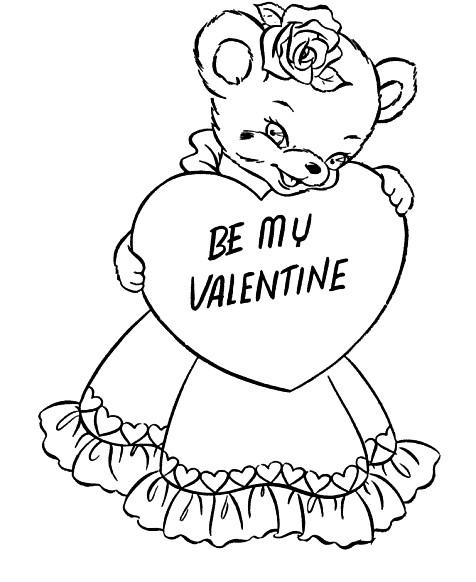 Раскраска Be my Valentine