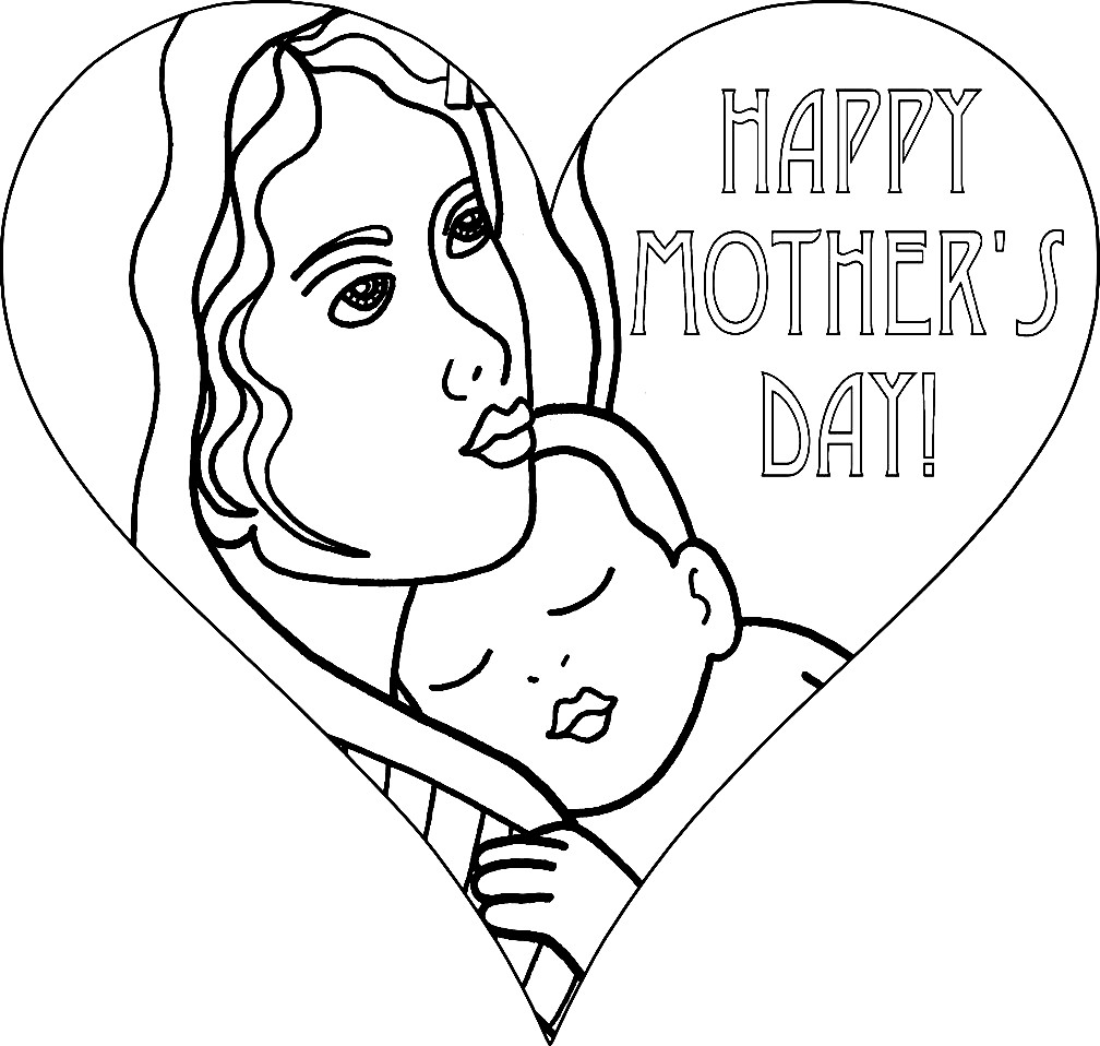 Раскраска с днем мамы