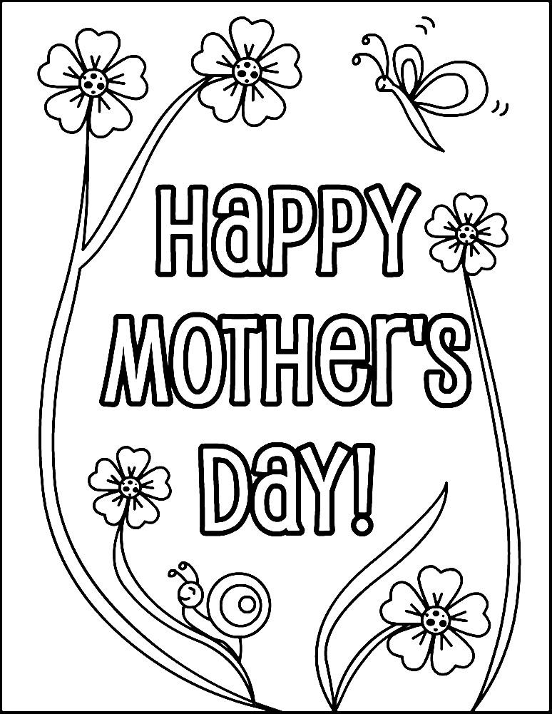 Раскраска цветы на день матери