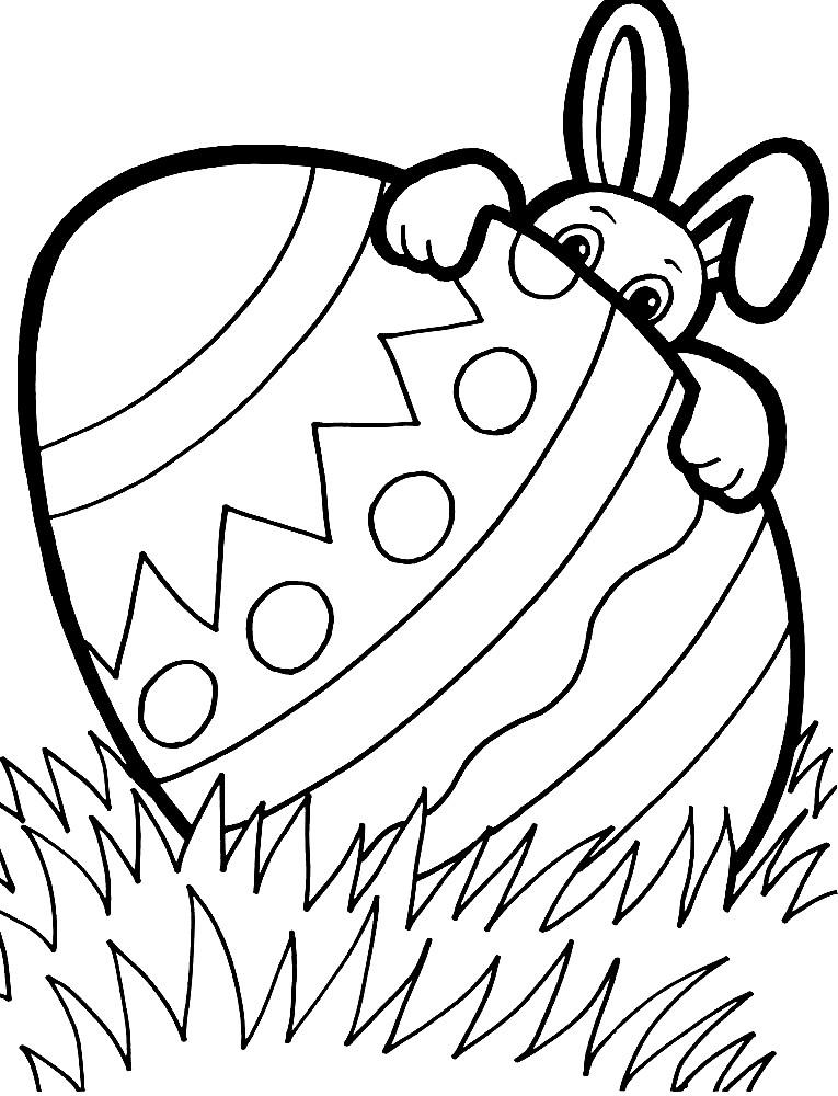 Раскраска большое Пасхальное яйцо