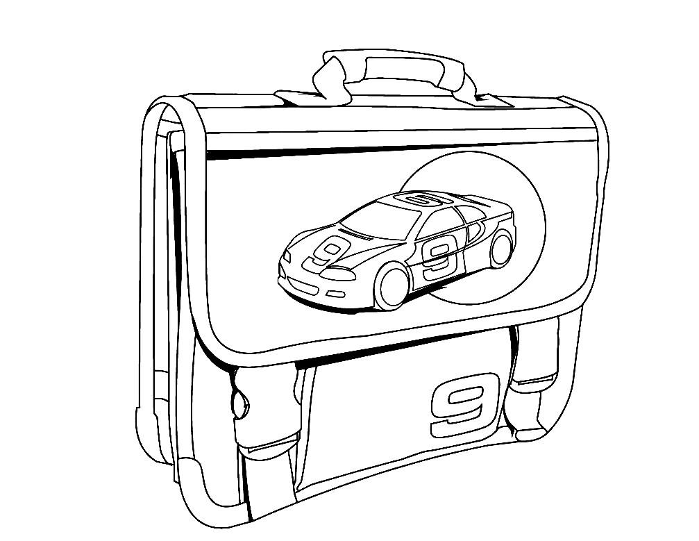 Раскраска портфель