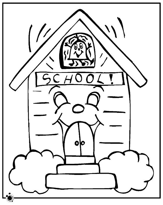 Раскраска любимая школа
