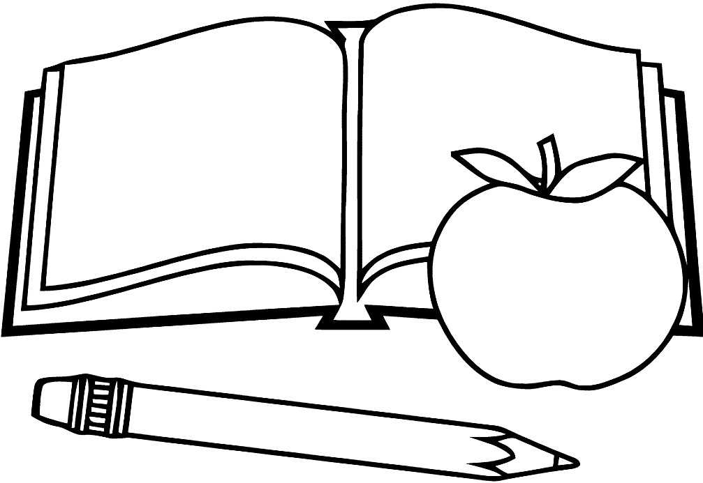 Раскраска книга и карандаш
