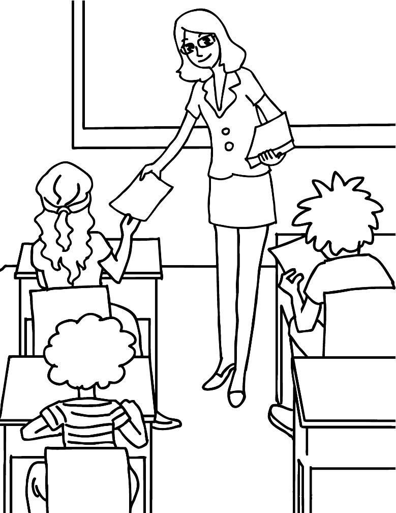 НА ДЕНЬ УЧИТЕЛЯ | Раскраски для детей распечатать ...