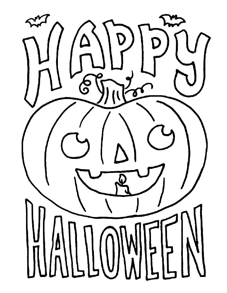 Раскраска счастливого Хэллоуина