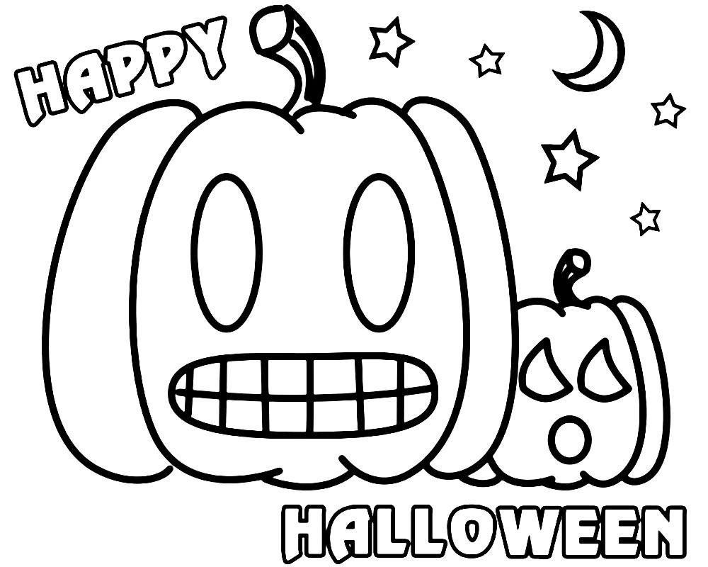 Раскраска празднование Хэллоуина