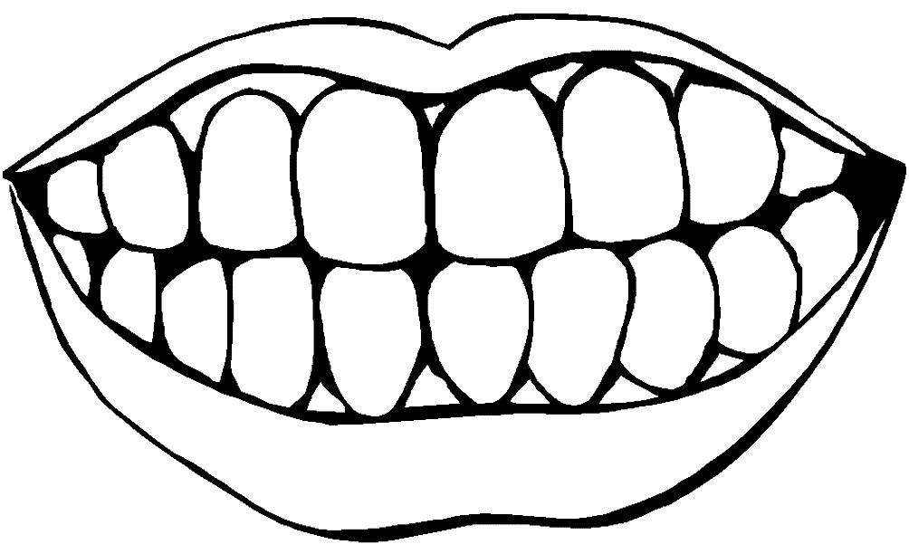 Раскраска челюсть
