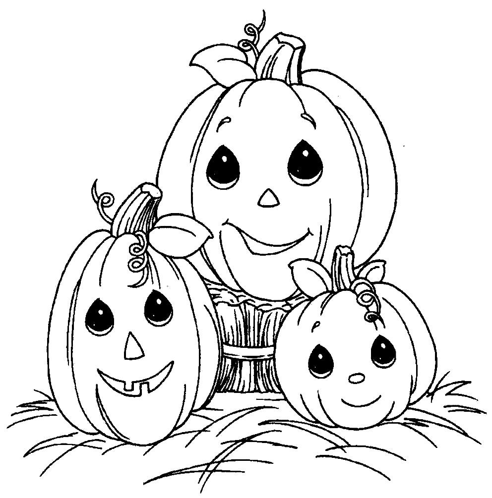 Раскраска тыквы на Хэллоуин