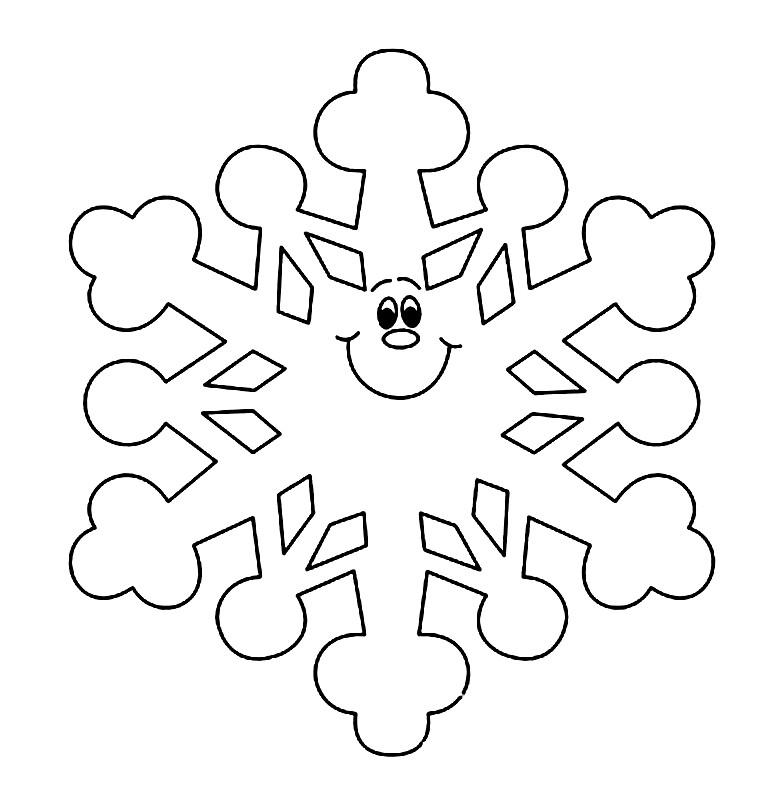 Раскраска веселая снежинка