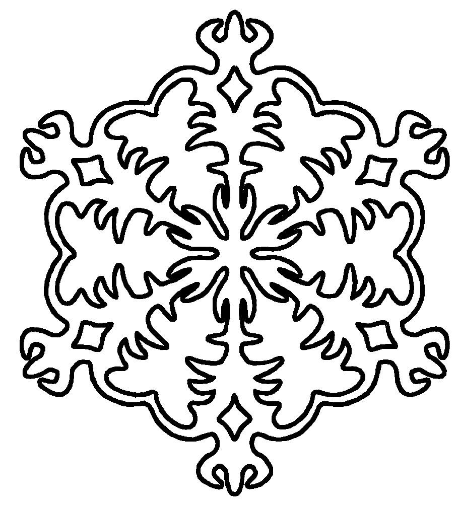 Раскраска снежинка новогодняя