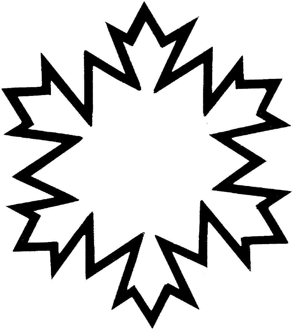 Раскраска снежинка для дошкольников