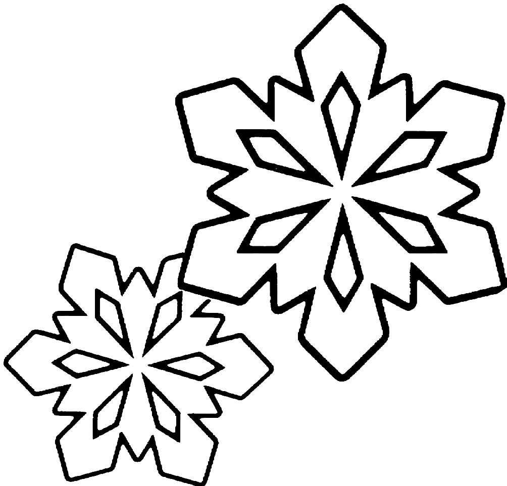 Раскраска снежинки для детей